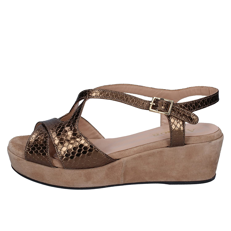 - ALLISON Sandals Womens Snakeskin Bronze