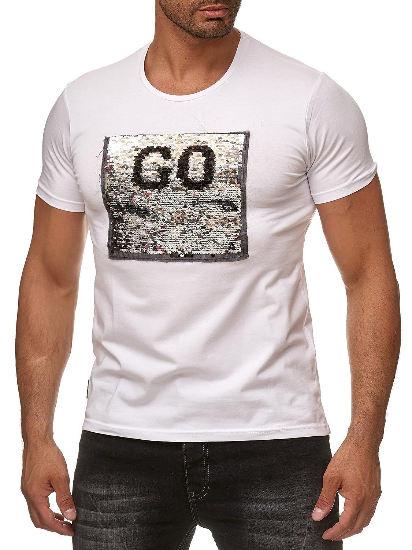 Red Bridge T-Shirt Stop /& Go con Paillettes reversibili per Uomo