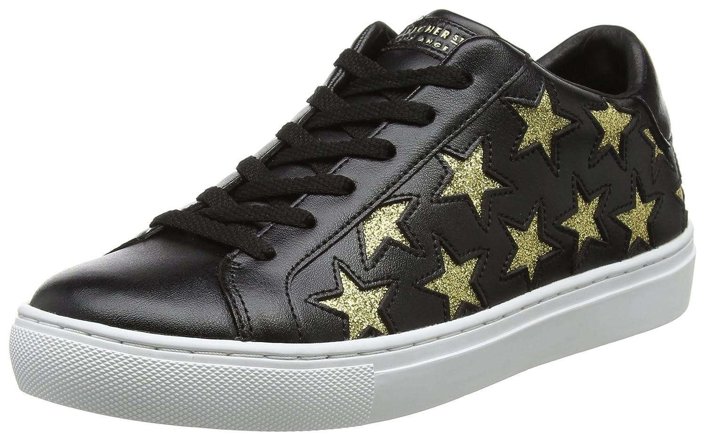 Black gold Skechers Women's Side Street - Star Side shoes White Silver