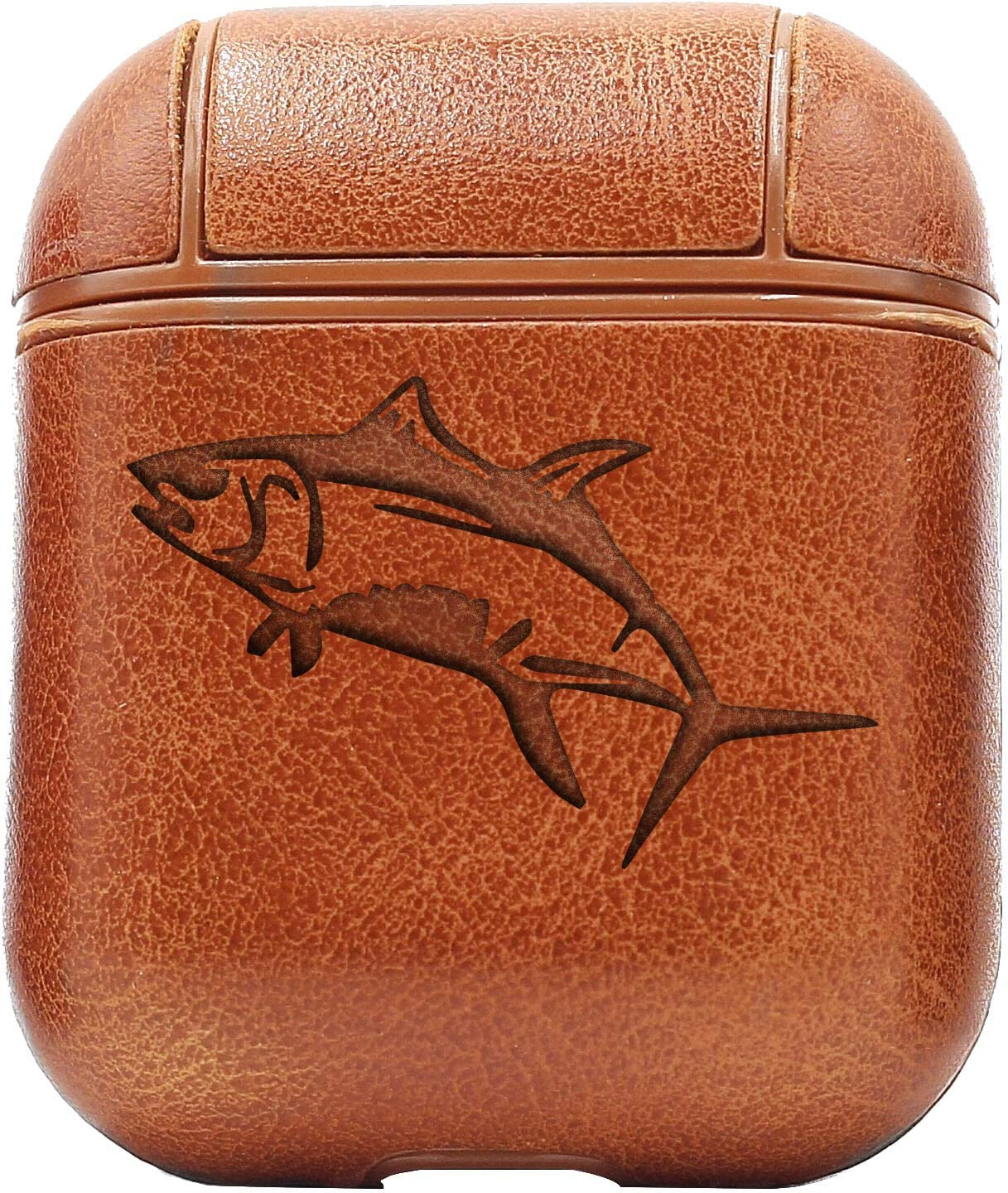 Tuna Fish Leather Wallet BLACK or Brown Fishing Gift