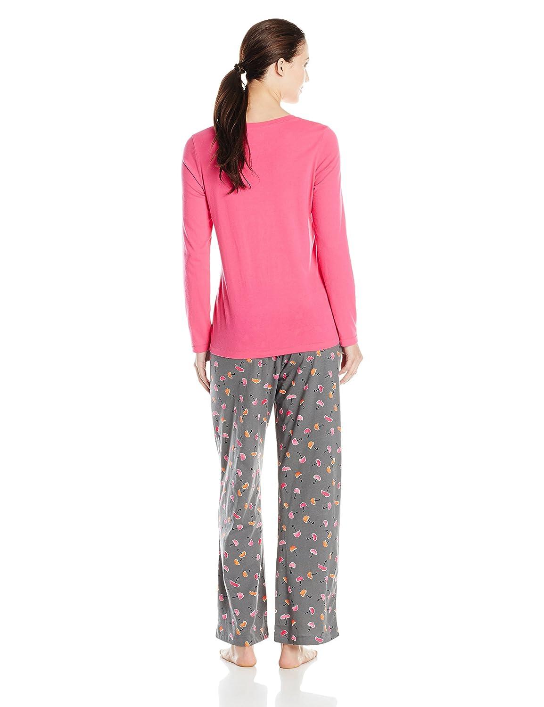 d033bb1bc Hue Sleepwear Women s Knit Pajama Set at Amazon Women s Clothing store