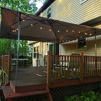 LAKE & TRAIL - Toldo con Bloqueo UV de 13 pies x 13 pies con Kit de Herramientas, toldo para Patio al Aire Libre, jardín, Eventos, Color marrón: Amazon.es: Jardín