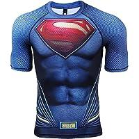 COOLMAX Raglan Short Sleeve Superman Mens Compression Shirt