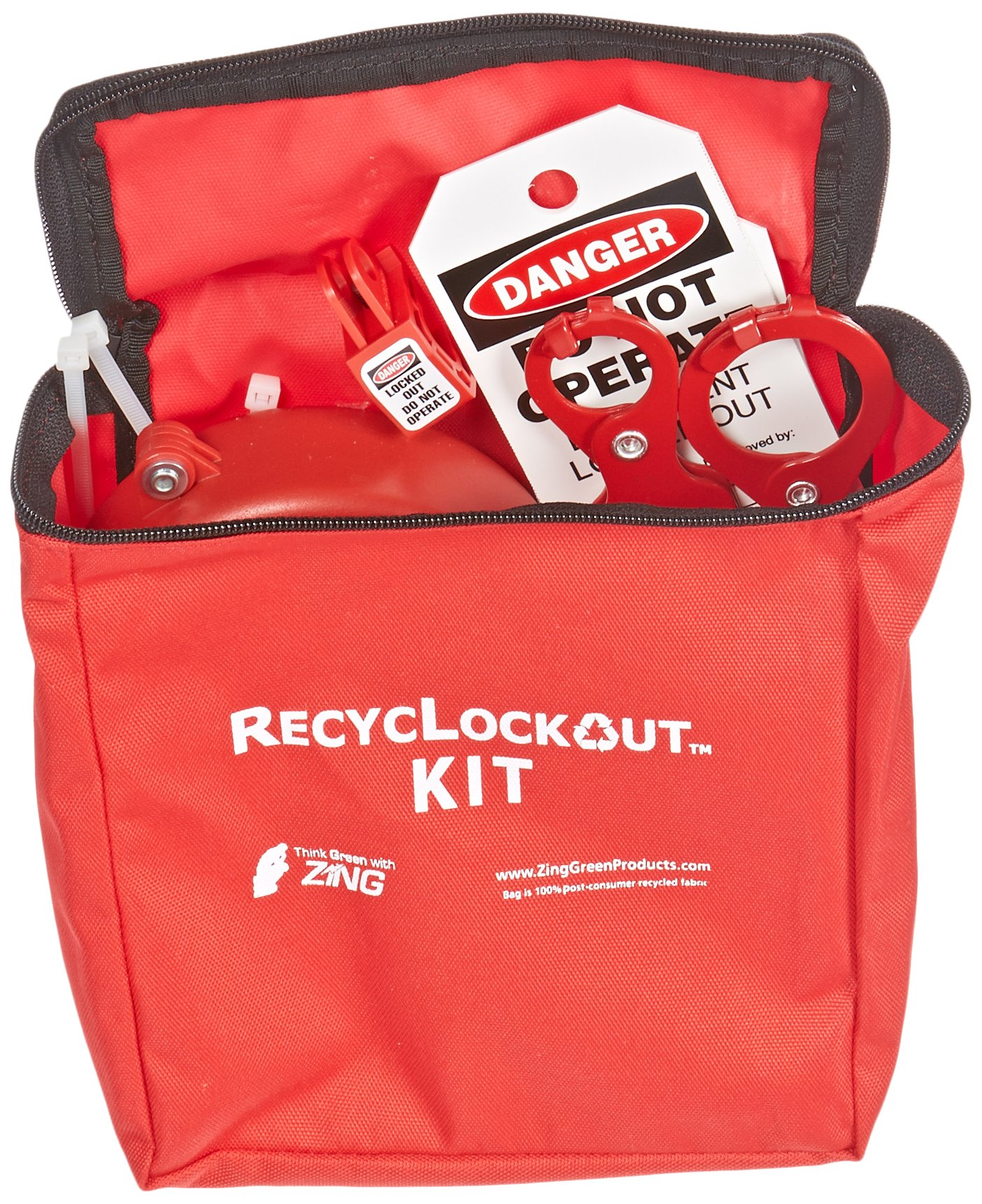 ZING 7120 RecycLockout Lockout Tagout Kit, 12 Component, Valve Lockout by Zing Green Products (Image #3)