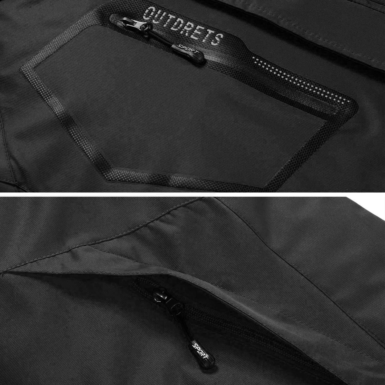 Black,XL Gopune Mens Fleece Jacket Winter Ski Outdoor Sport Waterproof Windproof Warm Coat