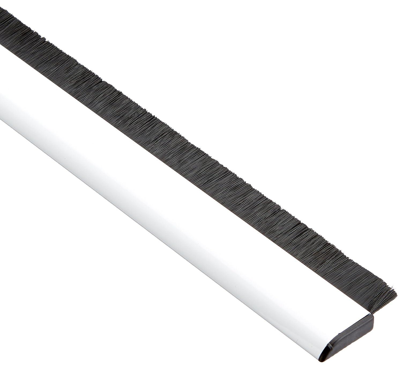 Tesa 05405-00100-00 Barra bajo Puerta de Aluminio, 1 m x 40 mm, Color Blanco, Aplica