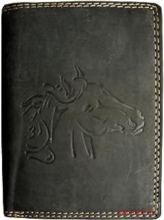 7de2c05468c54 Hochwertige Geldbörse Geldbeutel Portemonnaie Büffel Wild Leder Pferd  geprägt