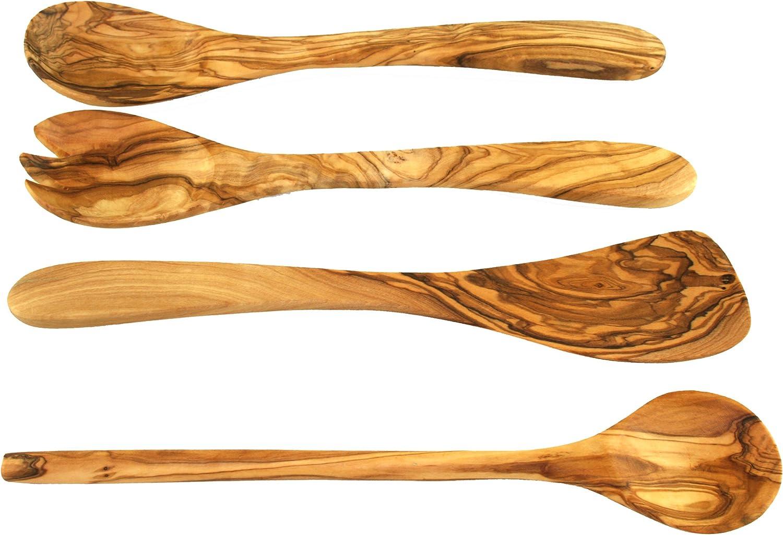 2 x spatule spatule glissière Olivenholz olives BOIS pièce unique 25cm