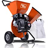 "SuperHandy Wood Chipper Shredder Mulcher Ultra Duty 7HP Gas 3 in 1 Multi-Function 3"" Inch Max Wood Capacity EPA/CARB…"
