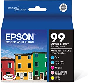 Epson Claria T099920 Hi-Definition 99 Standard-capacity Inkjet Cartridge Color Multipack -Cyan/Light Cyan/Magenta/Light Magenta/Yellow
