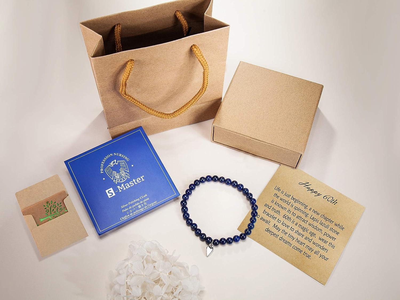 60th Cadeau D/'anniversaire Cadeaux pour 60th Anniversaire souhaite Bracelets 60th Carte d/'Anniversaire