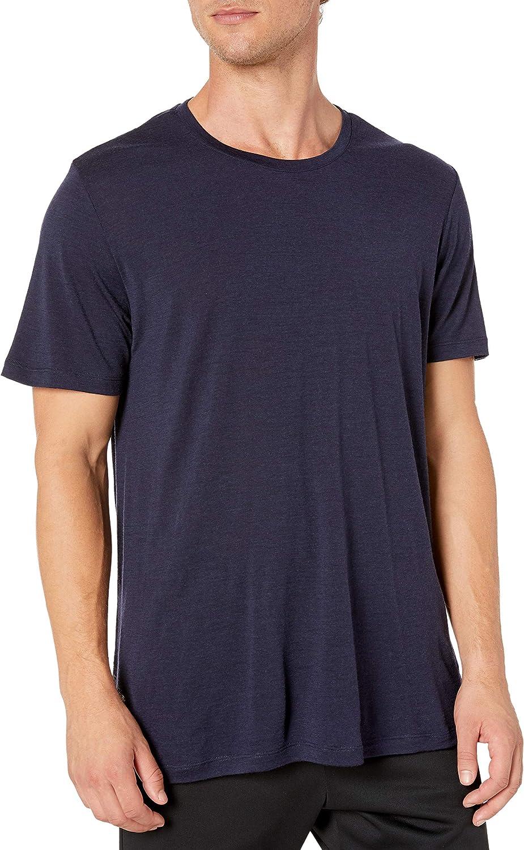 Icebreaker Tech Lite T-Shirt Col Ras-du-Cou Homme Midnight Navy 2019 T-Shirt Manches Courtes