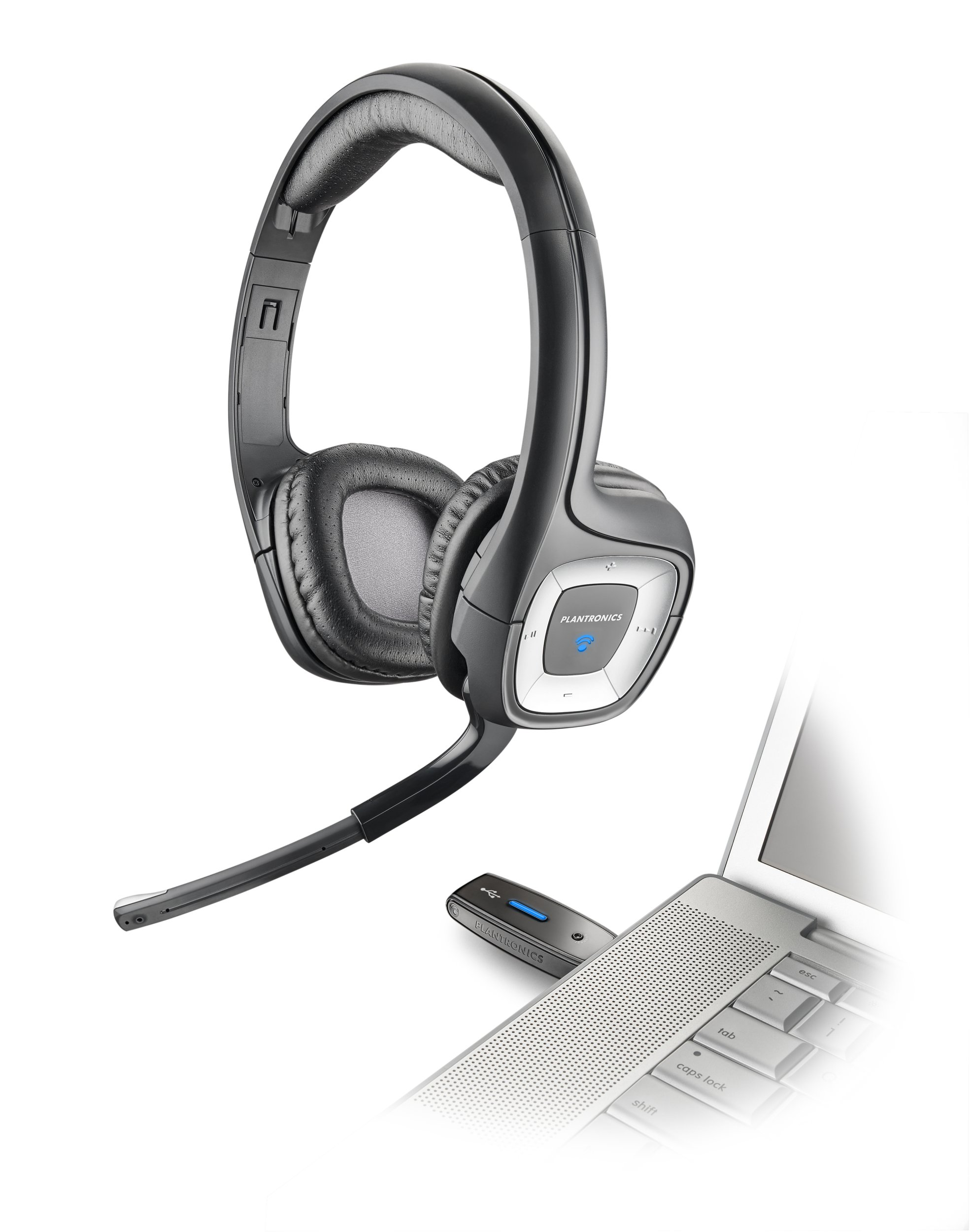 Plantronics Audio 995 USB Multimedia Headset with Noise Canceling Microphone - Compatible with PC and Mac by Plantronics