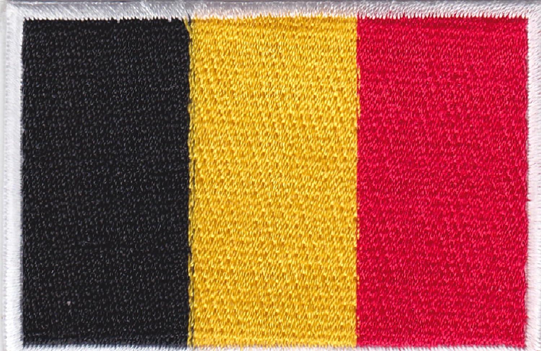 Aufn/äher B/ügelbild Aufb/ügler Iron on Patches Applikation Belgien Flagge Belgium