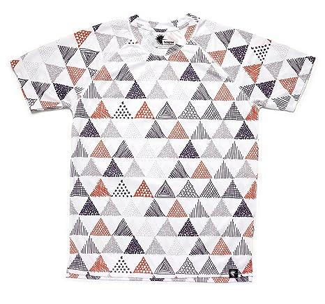 Camiseta Running Estampada Hombre, Manga Corta, Gimnasio #Triangles Talla S