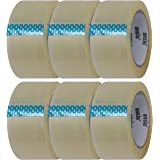 Clear Packing Tape 75 Micron Heavy Duty Packaging Tape 6 Roll Pack | 60 m x 50mm