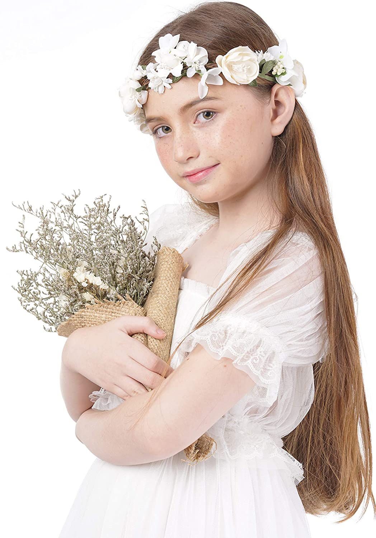Amazon.com  Vintage Flower Girl Headpiece - Diy Hair Accessories For  Wedding Festivals  Beauty 591d7ee6457