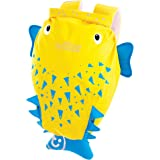 Trunki Kid's Water-Resistant Swim & Gym Bag – PaddlePak Spike PufferFish (Yellow)