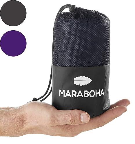 Maraboha - Saco de dormir ligero - de microfibra suave y ...