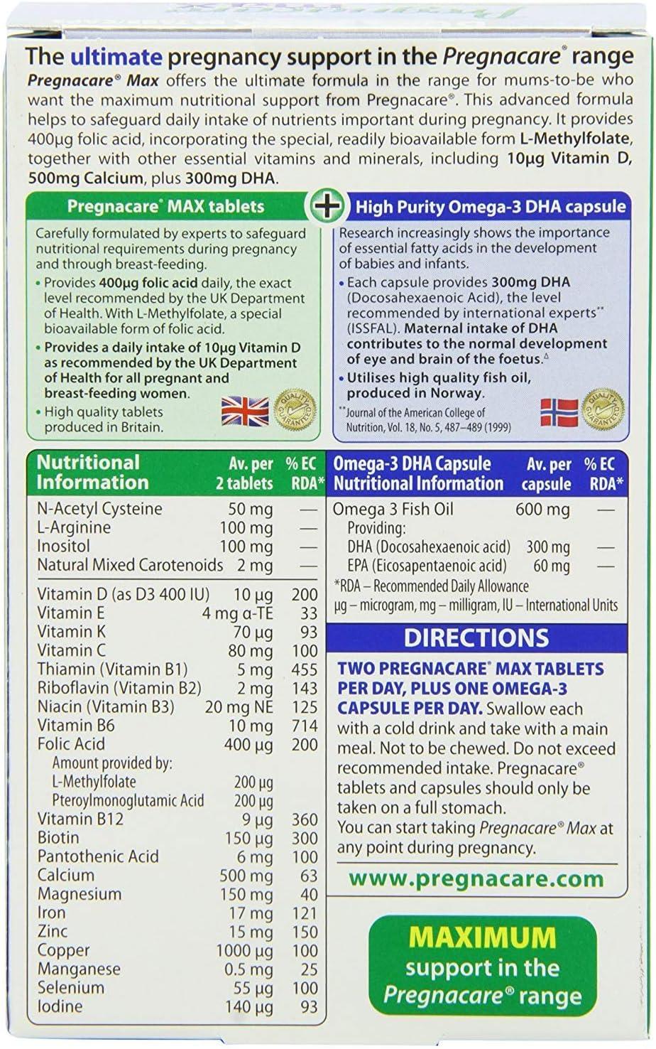(3 PACK) - Vitabiotics Pregnacare Max - Capsules & Tablets | 28 56s s | 3 PACK - SUPER SAVER - SAVE MONEY