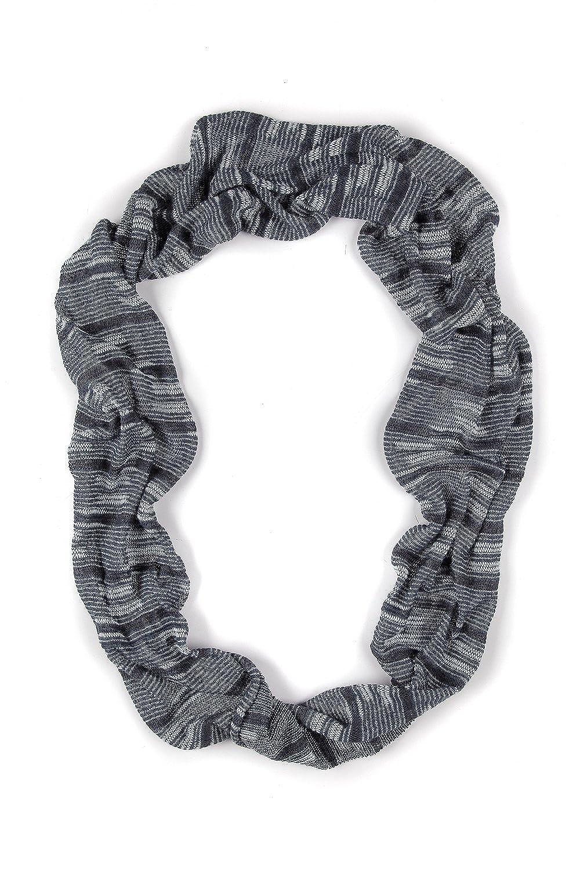 Ulla Popken Women's Plus Size Eco Cotton Stripe Infinity Scarf 703327