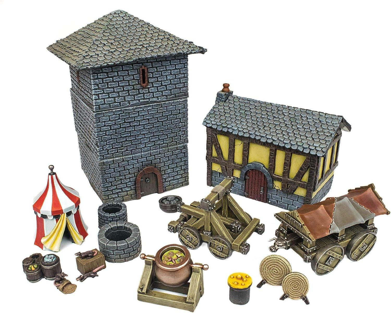 Amazon.com: War World Gaming Medieval Siege Full Battle Set ...
