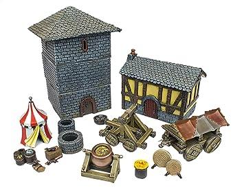 WWG Medieval Siege - Set Completo de Batalla 28mm ...