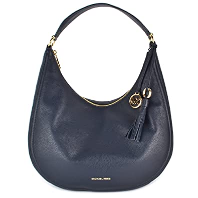 e7014fae1865 MICHAEL by Michael Kors Lydia Admiral  Navy  Leather Large Hobo Bag one  size Admiral
