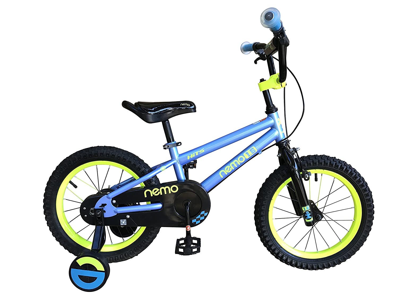 HITS(ヒッツ) Nemo 子供用 自転車 フロントキャリパーブレーキ リア バンドブレーキ 児童用 バイク ハンドブレーキモデル 14インチ 16インチ 男の子にも女の子にもぴったり 3歳 4歳 5歳 6歳 7歳 8歳 9歳 B06XQ7DKWJ 14インチ ブルー ブルー 14インチ