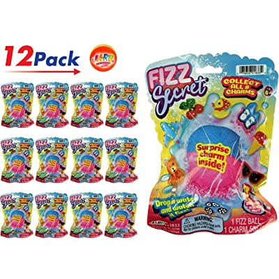 JA-RU Fizzy Bomb Fizz Secret Ball with Surprise Inside, Individually Packed (Pack of 12) and 1 Bouncy Ball from Magic Grow. Pack of 12 | Item #1833-12: Toys & Games