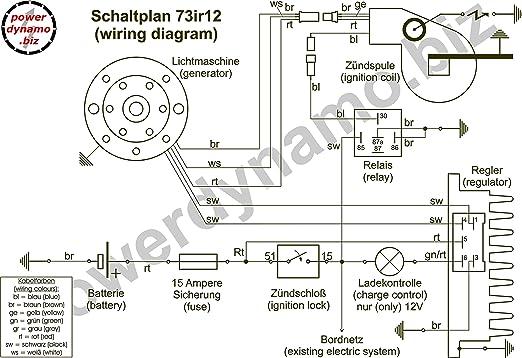 powerdynamo sistema de encendido Estator Yamaha DT125 e DT 125 E ...
