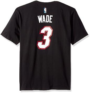 Dwyane Wade Miami Heat NBA Adidas Player T-shirt camisa - Black: Amazon.es: Deportes y aire libre