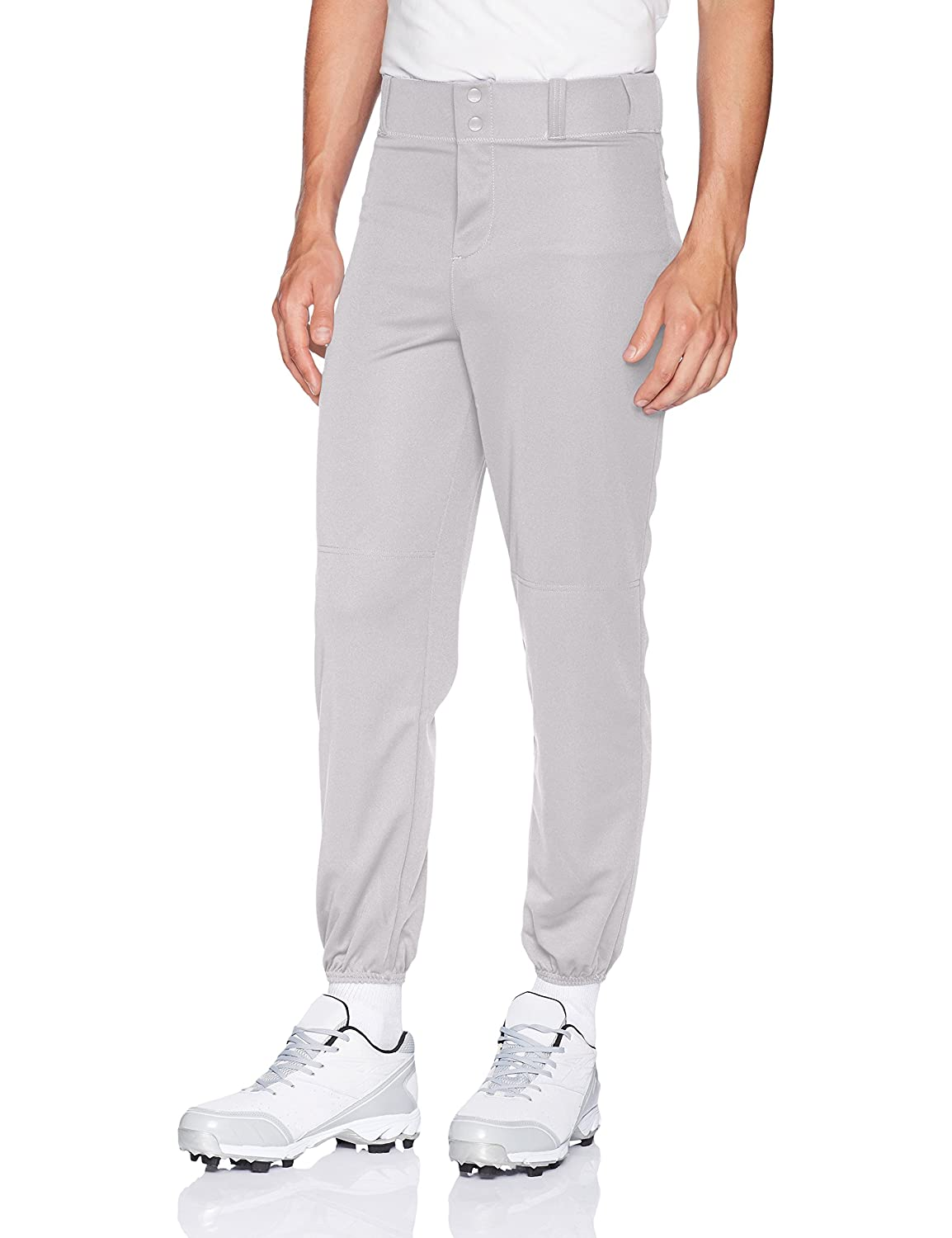 Alleson Ahtletic Men's Elastic Bottom Baseball Pants, Grey, Small Alleson Athletic (Sports) 605P