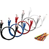 Multi-cable 5 pack Cat5e cables multi coloured - 2 meter - UTP - CCA + 50 cable ties
