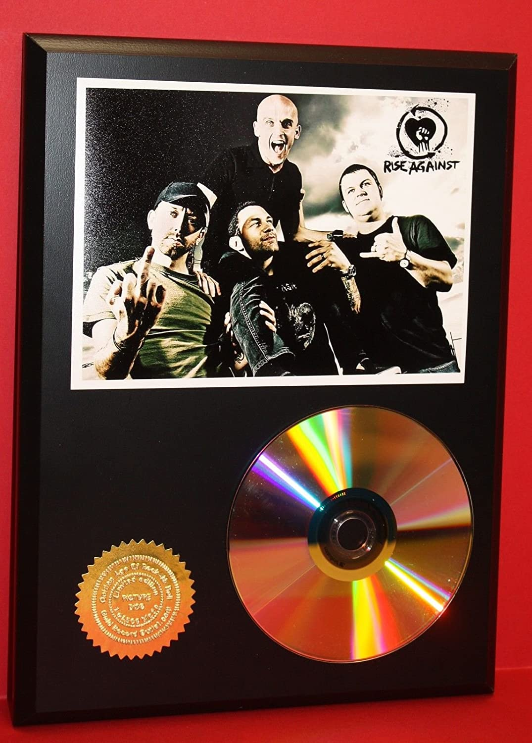 Rise Against Punk 24kt Gold Cd Collectible Rare Award Quality Plaque