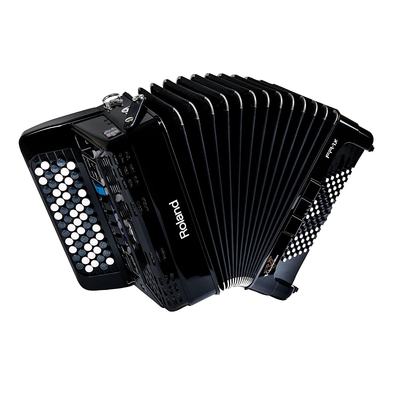 Roland V-Accordion Lite with 62 Buttons and Speakers, black (FR-1XB-BK)