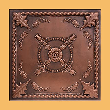 30pc of Jewel Copper Brown 24 x24 PVC 20 mil Ceiling Tiles – Covers about 120sqft