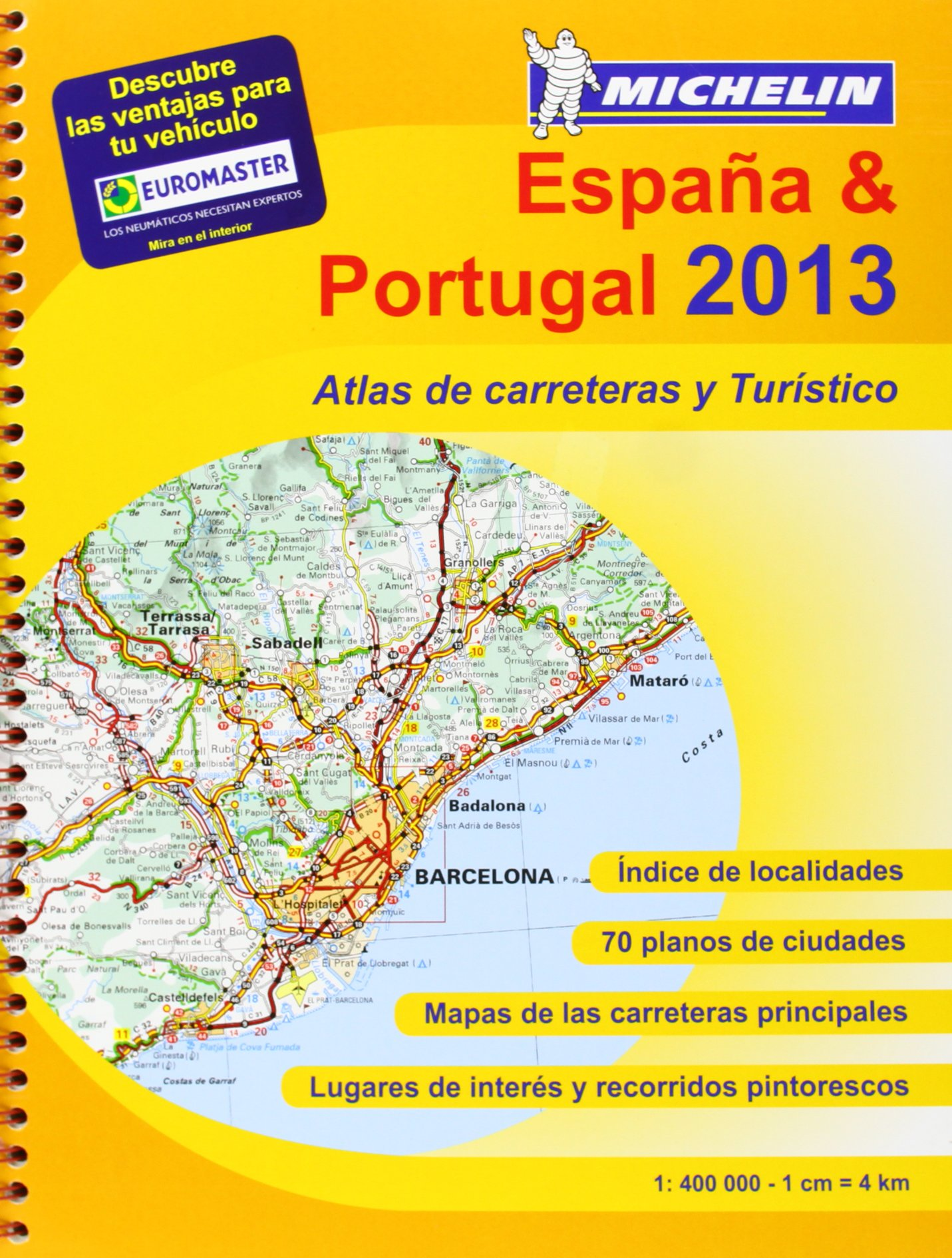 Atlas España - Portugal 2013 A4 4460 Atlas de carreteras Michelin: Amazon.es: Aa.Vv.: Libros