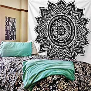 LHHZAL Mandala Tapestry Polyester Bohemian Wall Hanging Decor Blanket Indian Style Yoga Sleeping Tapestry Mandala Wall Fabric (Color : X3 3, Size : 150X130CM)