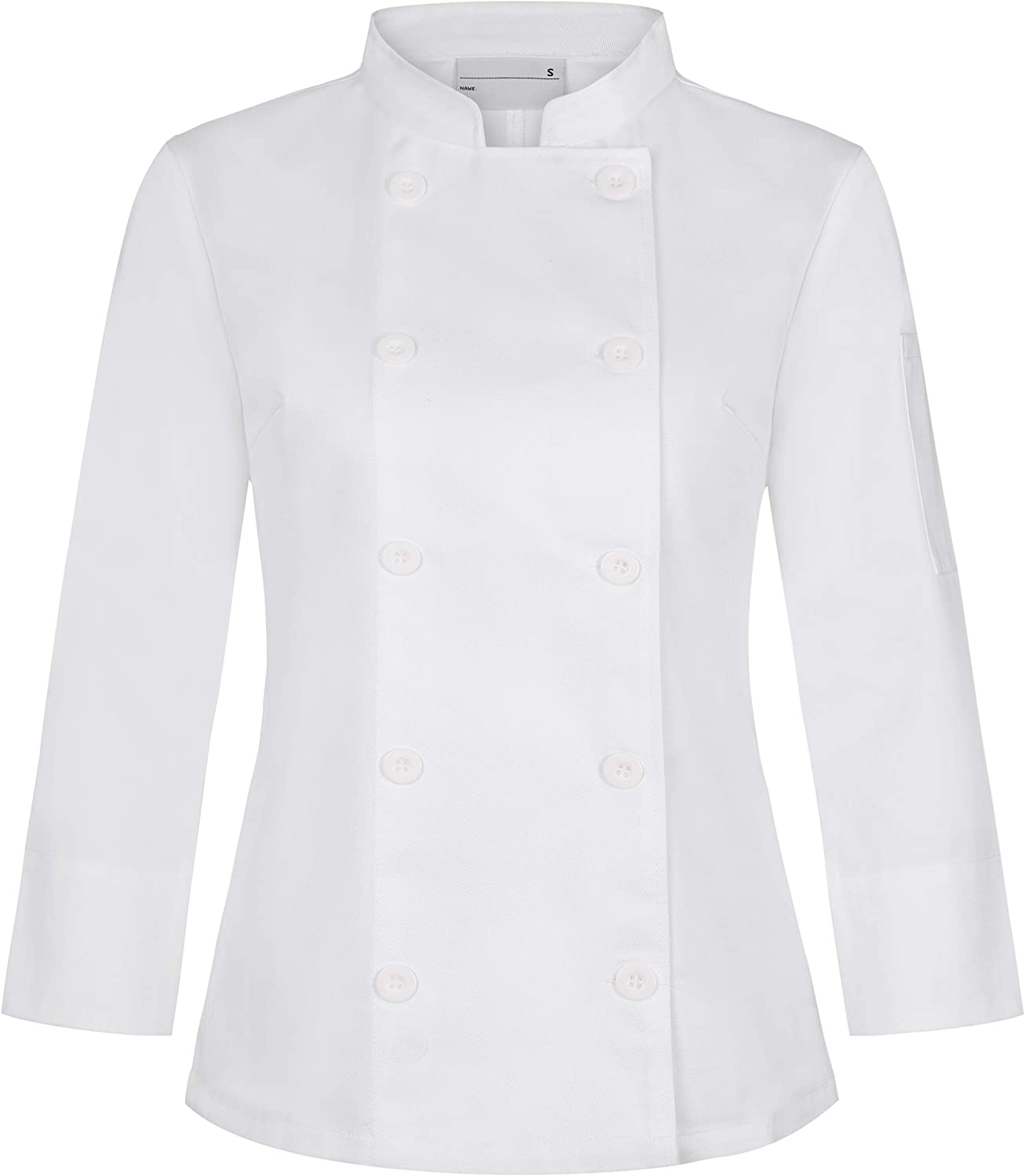 Chef Coat White Long Sleeve Chef Jackets Work Uniforms for Women
