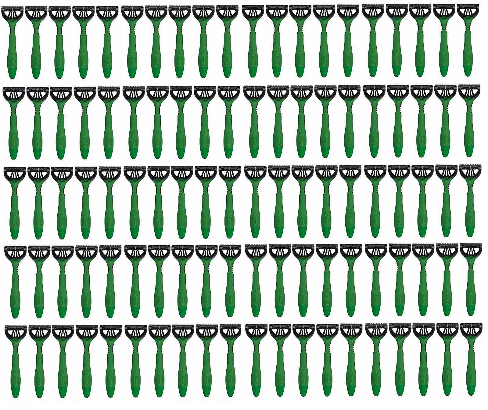 100 (Pack) - Schick Xtreme 3 Disposable Razors Sensitive Aloe Green Bulk