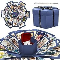 WisFox Explosion Box, Creativo DIY Hecho a Mano Sorpresa Explosión Caja de Regalo Amor Memoria, Álbum de Fotos de…