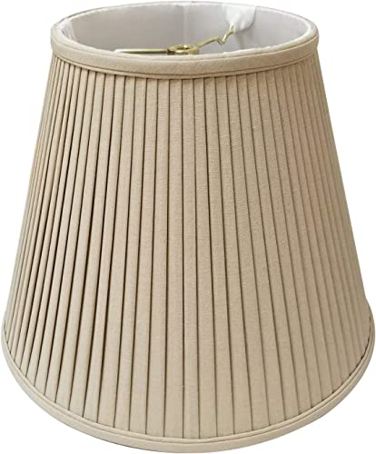 Royal Designs BS-728-20LNTP deep Empire Side Pleat Basic Lamp Shade, Linen Taupe 10 x 20 x 15