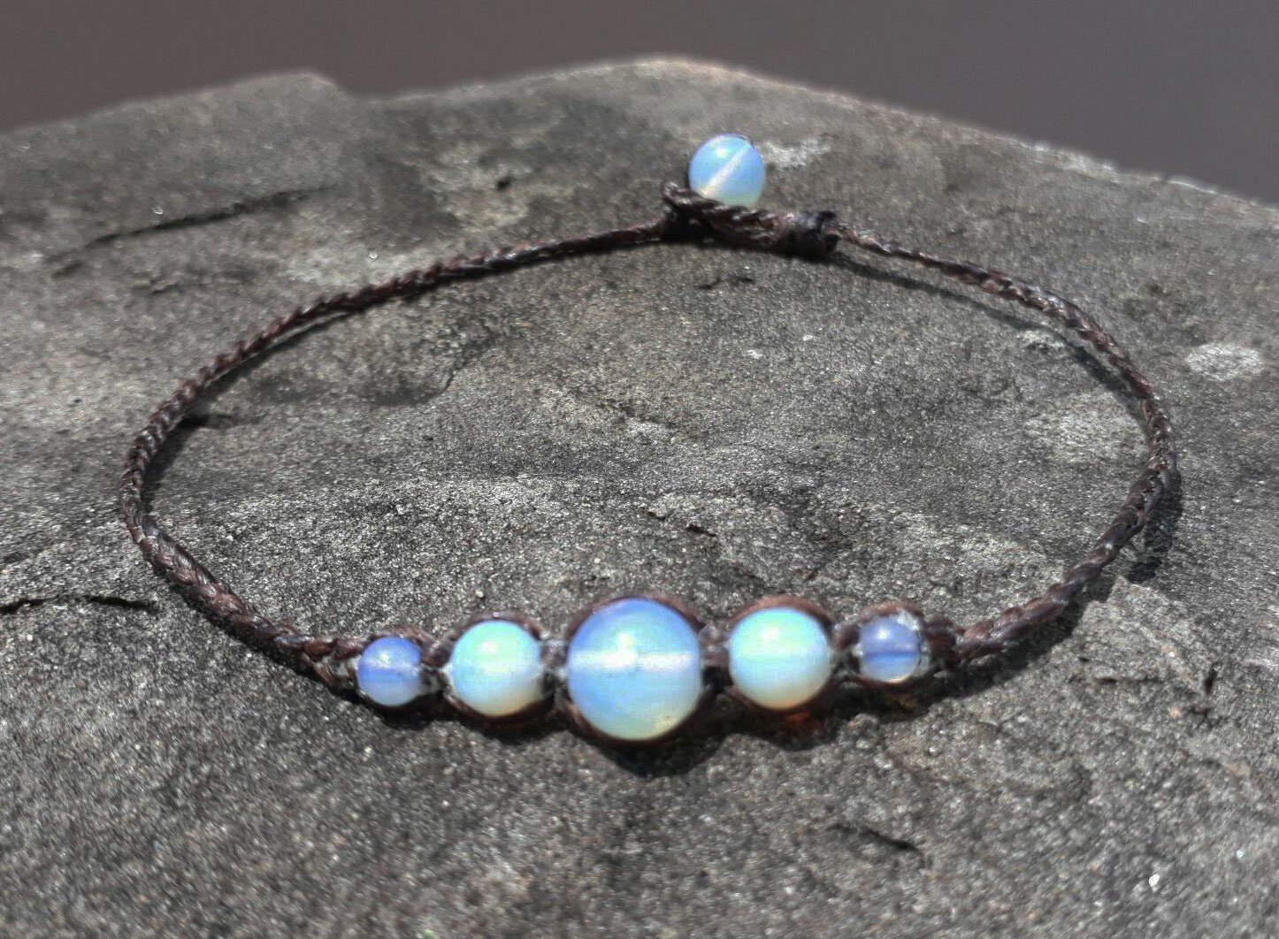 Opal anklets, stone anklets, white anklets, fashion anklets for Men and Women