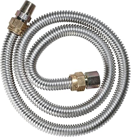 """Dormont Stainless Gas Dryer and Water Heater Connector 1//2/"""" OD x 48  NEW"""