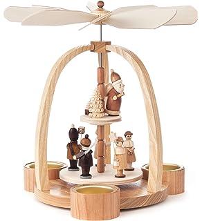 2 tier german christmas pyramid for tealights lantern children 24cm 9 - German Christmas Pyramid Kit