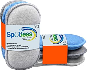 Multi-Purpose Scrub Sponges- Microfiber Dual Action for Kitchen-Bathroom scrubbing Sponge -Cleaning Pads with Non Scratch and Odour Free Technology Dishes, pots and All Pans, Pack of 6