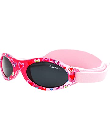 Koolsun Baby-Sonnenbrille Aqua Grey 0-3 Jahre 100/% UV SchutzMit Kopfband