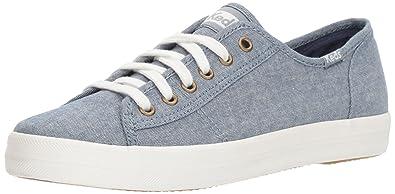Keds Women's Kickstart Chambray Sneaker,Blue,5 ...