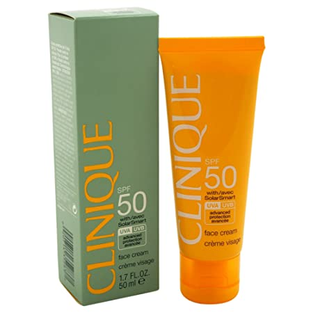 Clinique Face Cream SPF 50 with Solar Smart, 1.7 Ounce